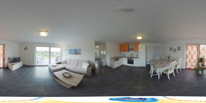 Bungalow in Admannshagen - Windbreaker - 360 Grad Bild 1